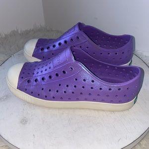Native Jefferson Slip on shoes Purple Iridescent 3